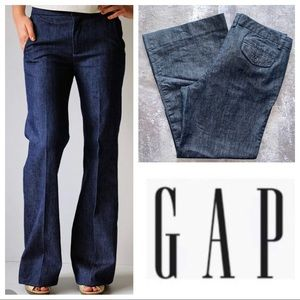 "GAP Denim Trouser Wide Leg Pants 28.5"" Inseam"